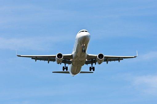 Aircraft, Descent, Airport, Sky, Passenger Aircraft