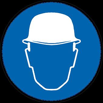 Head Protection, Helmet, Construction, Man, Face, Blue