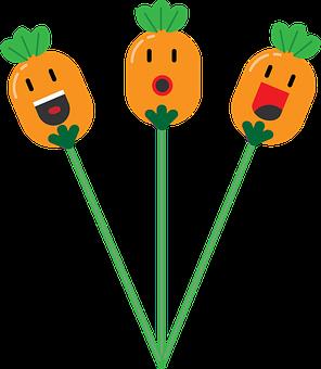 Cartoon Characters, Flower, Cartoon, Happy, Character