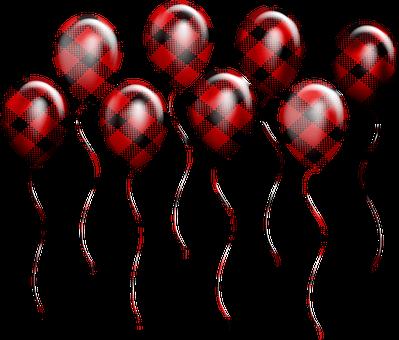 Buffalo Plaid, Lumberjack Balloons, Confetti