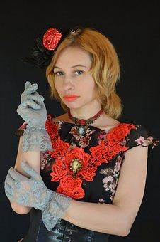 Vintage, Image, Retro, Girl, Hand Made