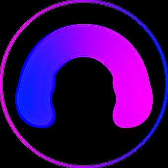 Headphones, Graphic, Blue, Pink, Effect, Shining