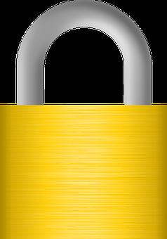 Padlock, Locked, Brass, Grey, Lock, Metal, Closed