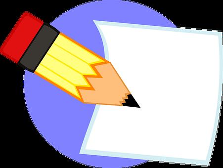 Write, Pencil, Paper, Blank, Draft, Writing, Office