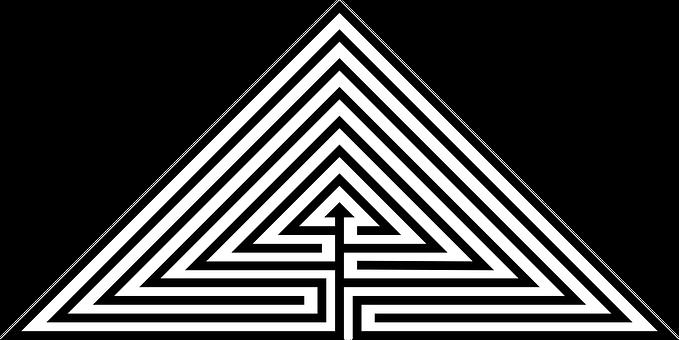 Labyrinth, Triangle, Classical, Pyramid, Daidalos
