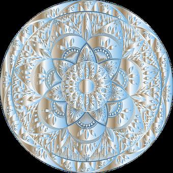 Mandala, Floral, Line Art, Decorative, Ornamental