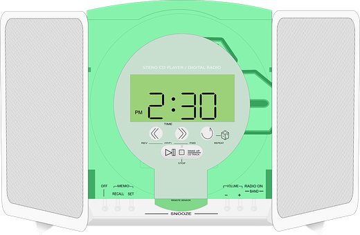 Stereo, Radio, Music, Alarm Clock