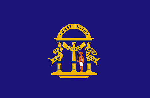 Georgia, Flag, Non-official, Before, 1879, State, Usa