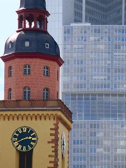 Frankfurt, Towers, Architecture, Skyscraper, City