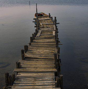 Pier, Boat, Sea, Water, Dock, Nautical, Nature, Canoe
