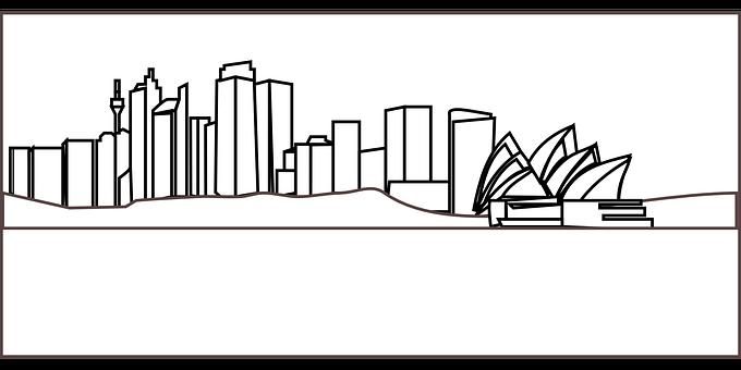 Sydney, Skyline, Opera, Coast, Towers