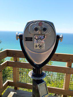 Lookout, Water, Binoculars, Nature, Landscape, Coast