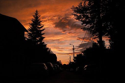 Sunset, Clouds, Sky, Landscape, Evening, Sun, Dusk