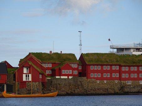 Thor Haven, Färör, Historic Center, Coast, Sea, North