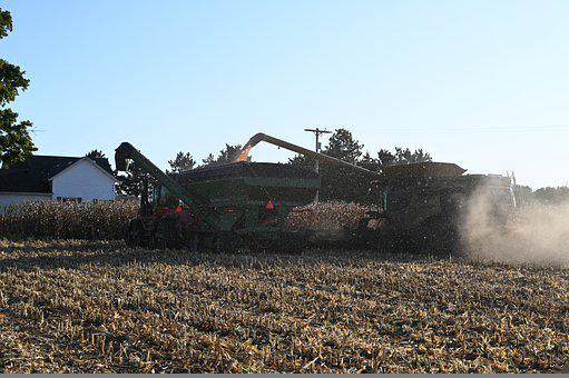 Farm, Farming, Agriculture, Harvest, Combine, Tractor