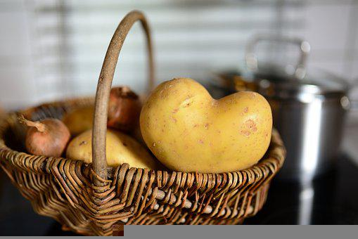 Potato, Potato Heart, Vegetables, Nutrition, Food