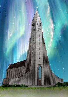 Church, Hallgrimskirkja, Reykjavik, Iceland