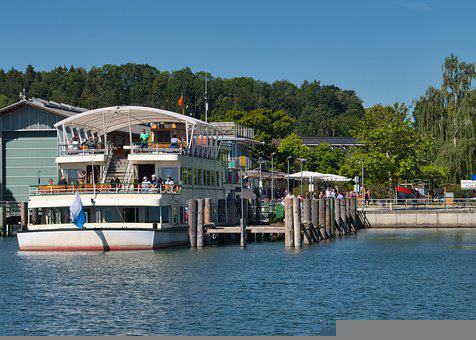 Lake, Chiemsee, Boat, Passenger Ship, Nature, Leisure