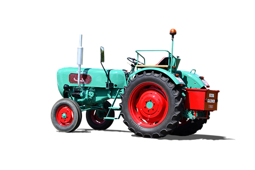 Tractor, Isolated, Old Tractor, Old, Nostalgia