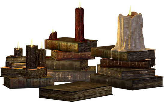 Candles, Candle, Books, Wax, Candlelight, Candlestick