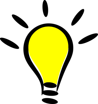 Cartoon, Icon, Light Bulb, Symbol