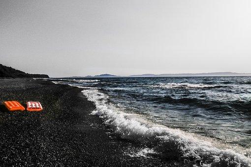 Beach, Leave, Sea, Coast, Water, Sand