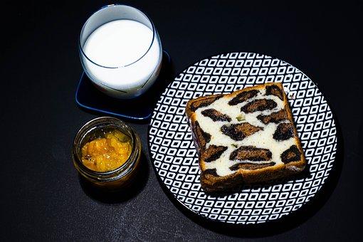 Jam, Bread, Milk, Food, Sweet