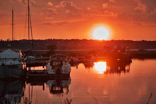 Sunset, Maritime, Nautical, Nature, Twilight, Marina