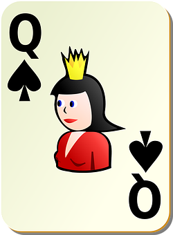 Spades, Playing Cards, Queen, Spade, Poker, Gambling