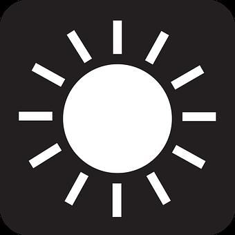Sun, Summer, Sunlight, Light, Rays, Warm, Black, Symbol