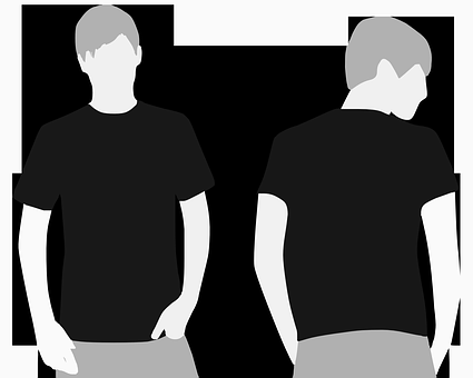People, Person, Men, Black And White, Back, Front