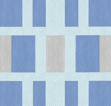 Fabric, Texture, Blue, Grey, Block, Pattern, Design