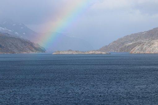 Rainbow, Prince Christian Sund, Gateway, Greenland