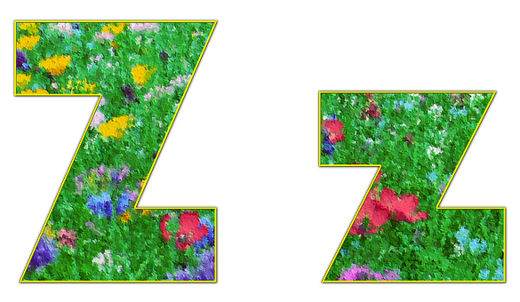 From, Letter, Alphabet, Font, Spring, Meadow, Flowers