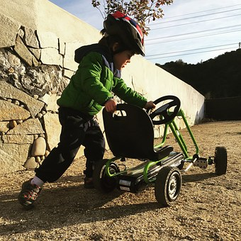 Quadricycle, Child, Karting, Go Kart, 3 Years Young