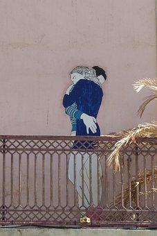 Mural, Art, Embrace, Street Art, Colors, Graffiti