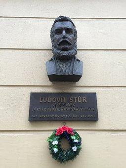 Bust, Statue, Bratislava, Slovakia, Ludovit Stur