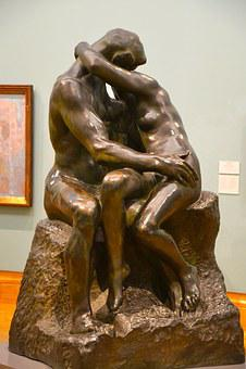 The Kiss, Bronze, Kiss, Woman, Sculpture, Statue, Love