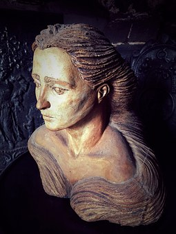 Female, Bust, Carved, Woman, Sculpture