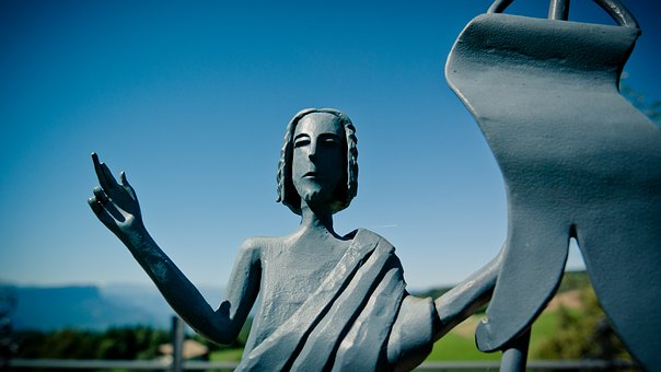 Fig, Figure Of Christ, Face, Bust, Metal Figure, Head