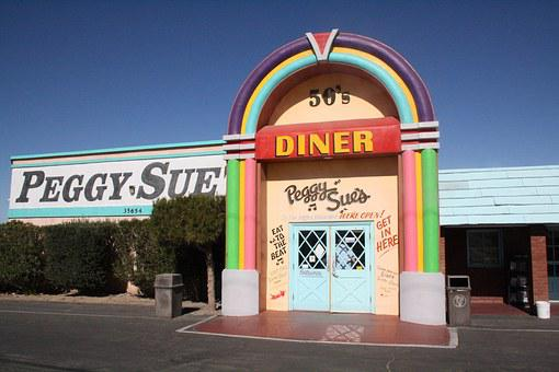 Usa, California, Mojave, Barstow, Peggy Sue Diner