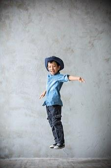 Jump, Boy, Happy, Child, Jumping For Joy, Cheerful