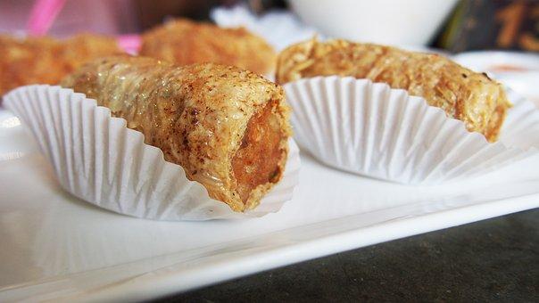 Dim Sum, Food, Chicken Roll