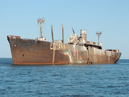 Wreck, Steamer, Vessel, Boat, Great, Costinesti