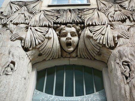 Door Frieze, Art Nouveau, Architecture, Building