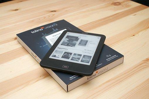 E-book, E-reader, Tolino Vision2, E-paper, Ebook, E-ink