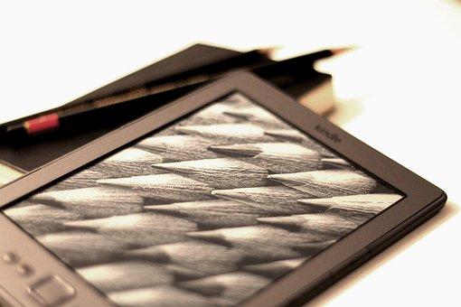 Kindle, Pencil, Read, Book, Ebook, Eink