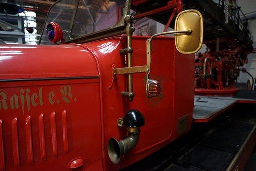 Fire, Old, Museum, Fire Truck, Oldtimer, Delete