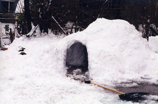 Igloo, Snow, Fort, Frozen, Winter, Season, Ice, Cold