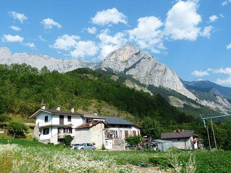 House, Trinità, Hiking, Hike, Gta, Road, Mountains